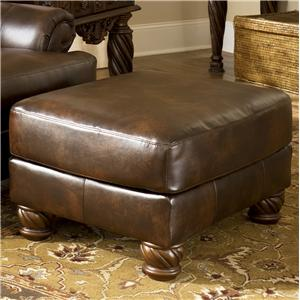 Signature Design by Ashley Furniture Fresco DuraBlend - Antique Accent Ottoman