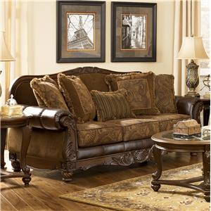 Signature Design by Ashley Furniture Fresco DuraBlend - Antique Sofa