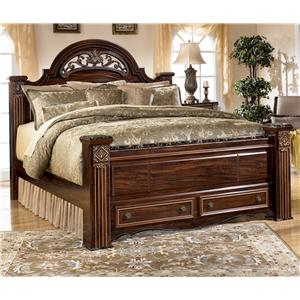 Signature Design by Ashley Furniture Gabriela Queen Poster Storage Bed