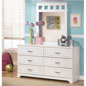 Signature Design by Ashley Lulu Dresser and Mirror Combo