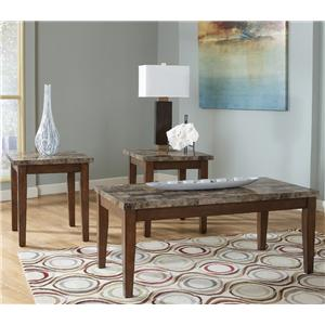 Signature Design by Ashley Theo 3-in-1 Pack of Occasional Tables