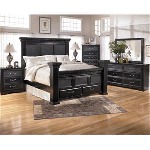 Signature Design by Ashley Furniture Cavallino Cavallino King  Bed, Dresser, Mirror