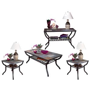 Signature Design by Ashley Furniture Antigo 4-Piece Occasional Table Set