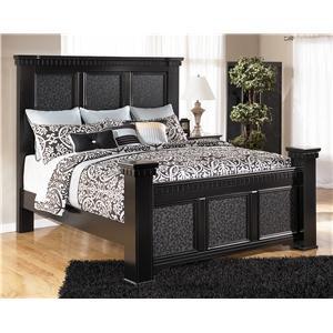 Signature Design by Ashley Furniture Cavallino King Mansion Poster Bed