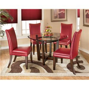 Signature Design by Ashley Furniture Charrell 5 Piece Round Dining Table Set