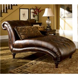 Signature Design by Ashley Furniture Claremore - Antique Chaise