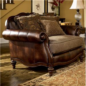 Signature Design by Ashley Furniture Claremore - Antique Chair and 1/2