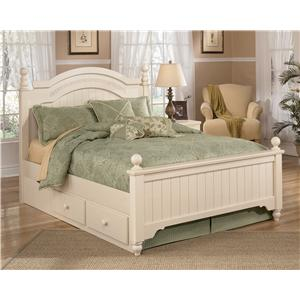 Signature Design by Ashley Cottage Retreat Full Poster Bed with Underbed Storage