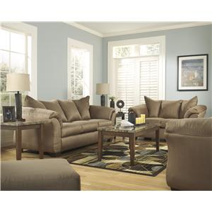 Signature Design by Ashley Furniture Darcy - Mocha Stationary Living Room Group