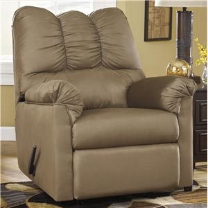 Signature Design by Ashley Furniture Darcy - Mocha Rocker Recliner