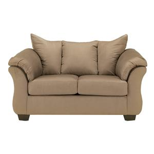 Signature Design by Ashley Furniture Darcy - Mocha Stationary Loveseat