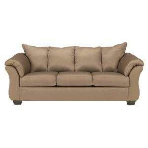 Signature Design by Ashley Furniture Darcy - Mocha Stationary Sofa