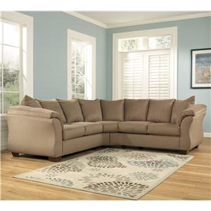 Signature Design by Ashley Furniture Darcy - Mocha Sectional Sofa