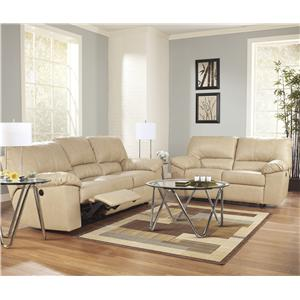 Signature Design by Ashley Furniture Fort Logan DuraBlend® - Natural Reclining Living Room Group