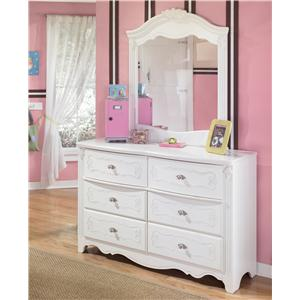 Signature Design by Ashley Furniture Exquisite Dresser and Mirror