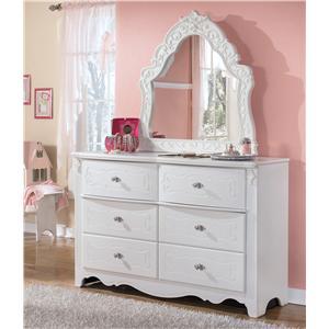 Signature Design by Ashley Furniture Exquisite Dresser & Bedroom Mirror