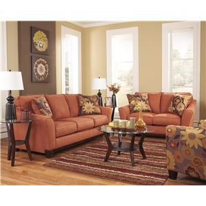 Signature Design by Ashley Gale - Russet Stationary Living Room Group
