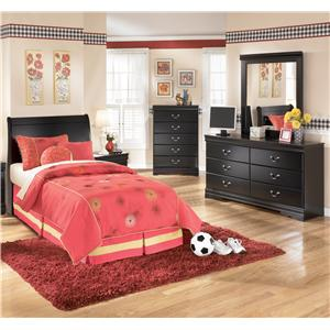 Signature Design by Ashley Furniture Huey Vineyard 3 Piece Twin Bedroom Group