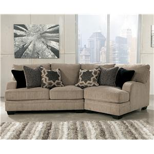 Signature Design by Ashley Katisha - Platinum 2-Piece Sectional with Right Cuddler