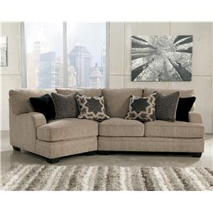 Signature Design by Ashley Katisha - Platinum 2-Piece Sectional with Left Cuddler