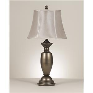 Signature Design by Ashley Lamps - Traditional Classics Set of 2 Ruth Metal Table Lamps
