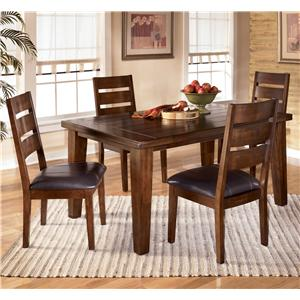 Signature Design by Ashley Furniture Larchmont 5 Piece Rectangular Dining Table Set