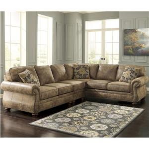 Signature Design by Ashley Larkinhurst - Earth Sectional with RAF Sofa