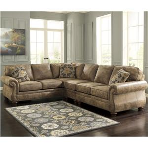 Signature Design by Ashley Larkinhurst - Earth Sectional with LAF Sofa
