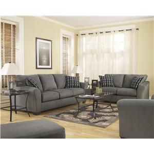 Signature Design by Ashley Furniture Lexi - Cobblestone Stationary Living Room Group