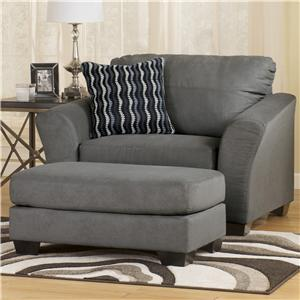 Signature Design by Ashley Furniture Lexi - Cobblestone Chair & Ottoman