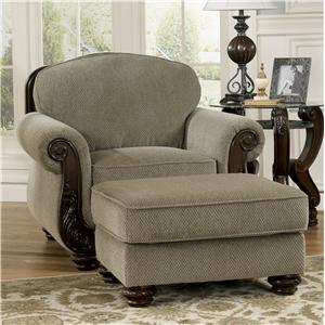 Signature Design by Ashley Martinsburg - Meadow Chair & Ottoman