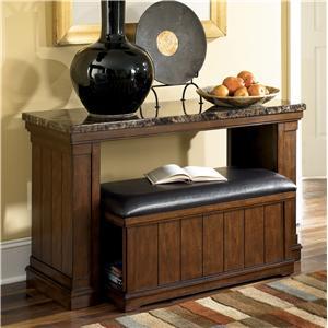 Signature Design by Ashley Furniture Merihill Sofa Table w/ Ottoman