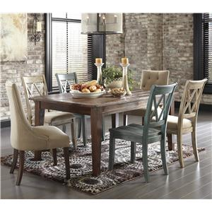 Signature Design by Ashley Mestler 7-Piece Table Set