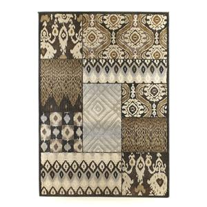 Signature Design by Ashley Furniture Contemporary Area Rugs Tribal Quilt - Charcoal Medium Rug