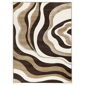 Signature Design by Ashley Contemporary Area Rugs Rivoletto - Brown  Medium Rug