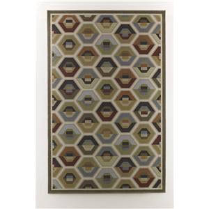 Signature Design by Ashley Contemporary Area Rugs Hannin - Multi Medium Rug
