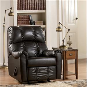 Signature Design by Ashley Furniture Rutledge - Java Rocker Recliner