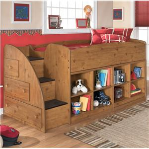 Signature Design by Ashley Stages Twin Loft Bed with Bookcase Storage