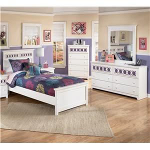 Signature Design by Ashley Furniture Zayley 3 Piece Twin Bedroom Group