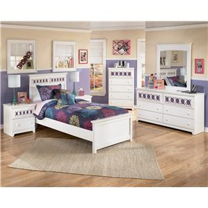 Signature Design by Ashley Furniture Zayley 5 Piece Twin Bedroom Group