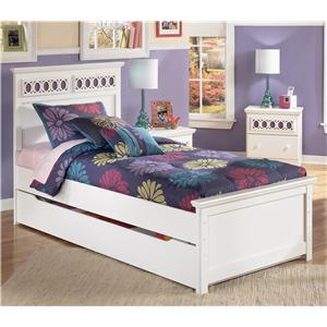 Signature Design by Ashley Furniture Zayley Twin Panel Bed with Trundle Storage Box