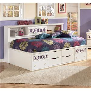 Signature Design by Ashley Furniture Zayley Twin Bedside Bookcase Daybed