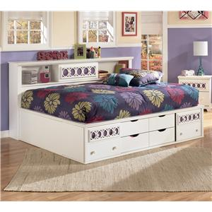Signature Design by Ashley Furniture Zayley Full Bedside Bookcase Daybed
