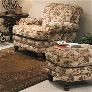 Smith Brothers 346 Chair and Ottoman Set
