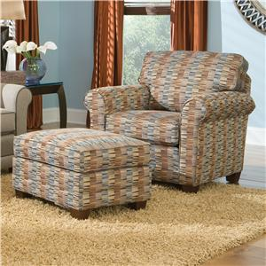 Smith Brothers 366 Casual Chair and Ottoman