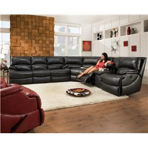 Southern Motion Shazam  Reclining Sectional Sofa