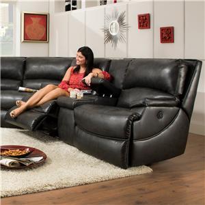 Southern Motion Shazam  Reclining Console Sofa