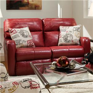 Southern Motion St. Simon Double Reclining Loveseat with Pillows