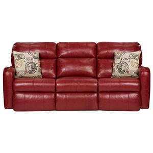 Southern Motion St. Simon Double Reclining Sofa with Pillows