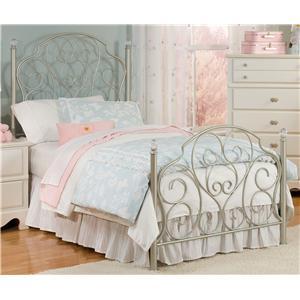 Standard Furniture Spring Rose Twin Metal Bed Twin Metal Bed